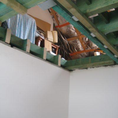 Réalisation d'une trémie pour recevoir un escalier droit