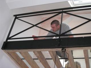 Réalisation d'un plancher vitré
