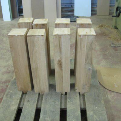 Fabrication d'une nouvelle structure  en chêne massif identique à l'originale